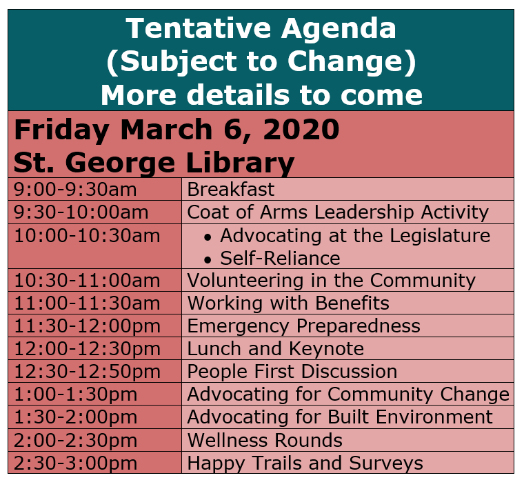 St. George Tentative Agenda