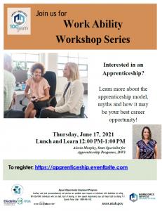 Flyer for Workability Workshop