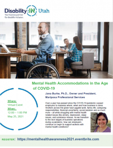 Disability In Mental Health Accommodations in the Age of COVID-19